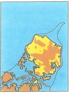 Landskabet for 8000 år siden.