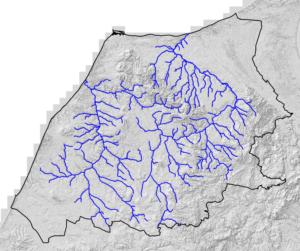 FIgur 6 - Vandløbene og Ådalene