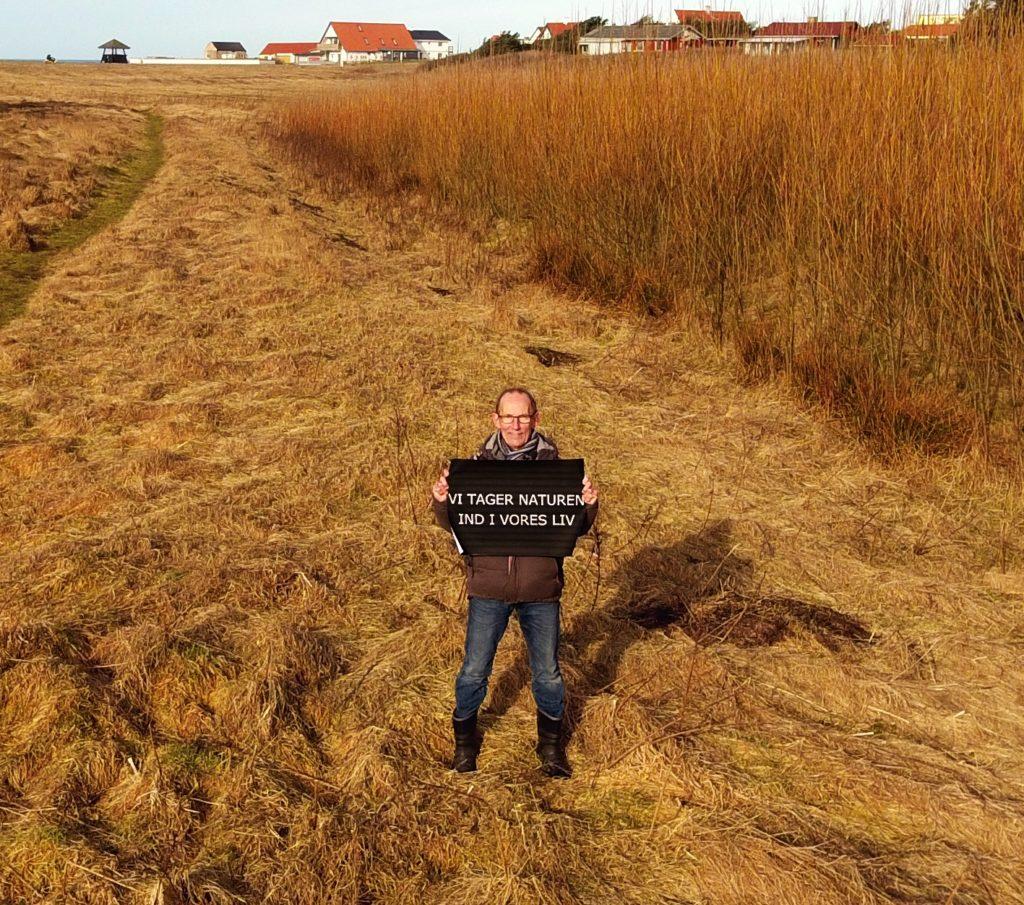 Søren Bangsø fra Nr. Lyngby Borgerforening, foran Pileengen