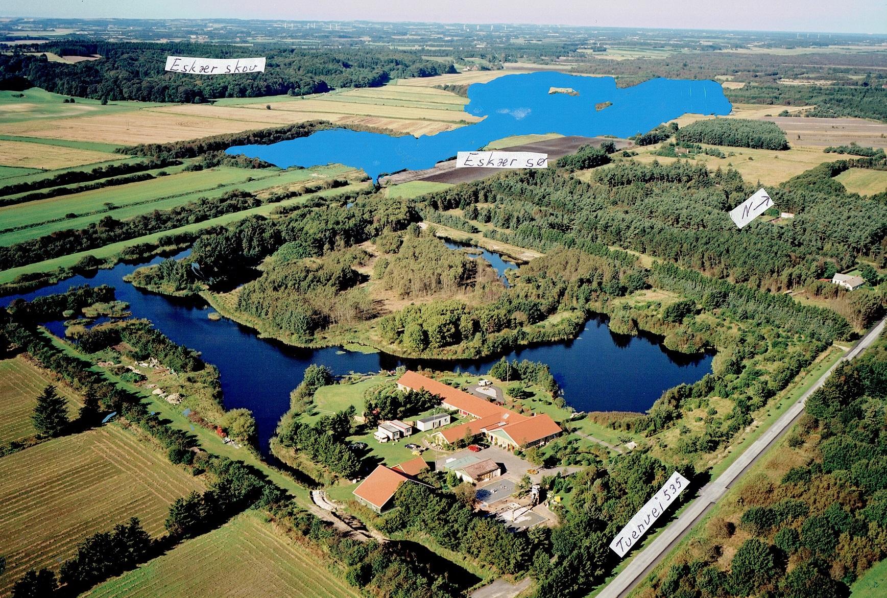 Skønnet udbredelse af søen
